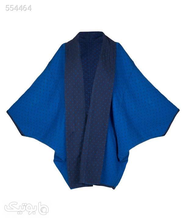 پانچو کوتاه زنانه تن درست Tane Dorost مدل السانا آبی پانچو و شنل