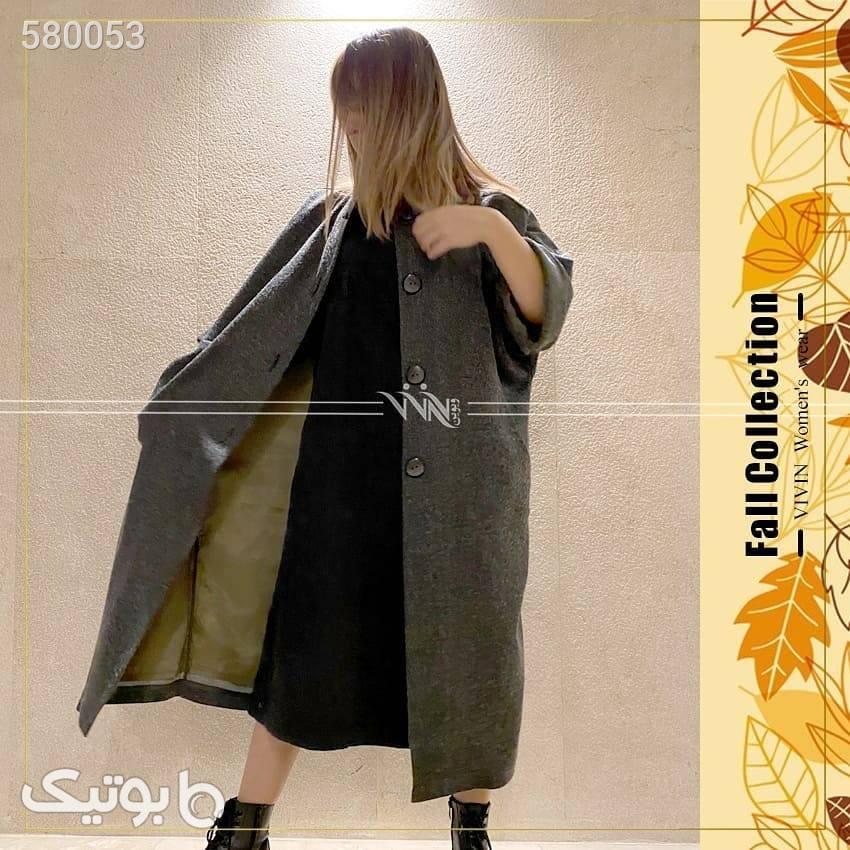 مانتوی آستر دار پاییزه  مشکی پلیور و ژاکت زنانه