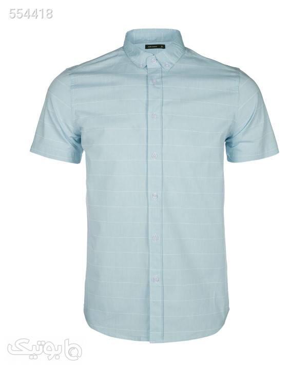 پیراهن مردانه آستین کوتاه جوتیجینز Jootijeans فیروزه ای پيراهن مردانه