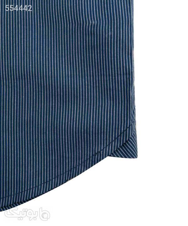پیراهن مردانه آستین کوتاه جوتیجینز Jootijeans سورمه ای پيراهن مردانه