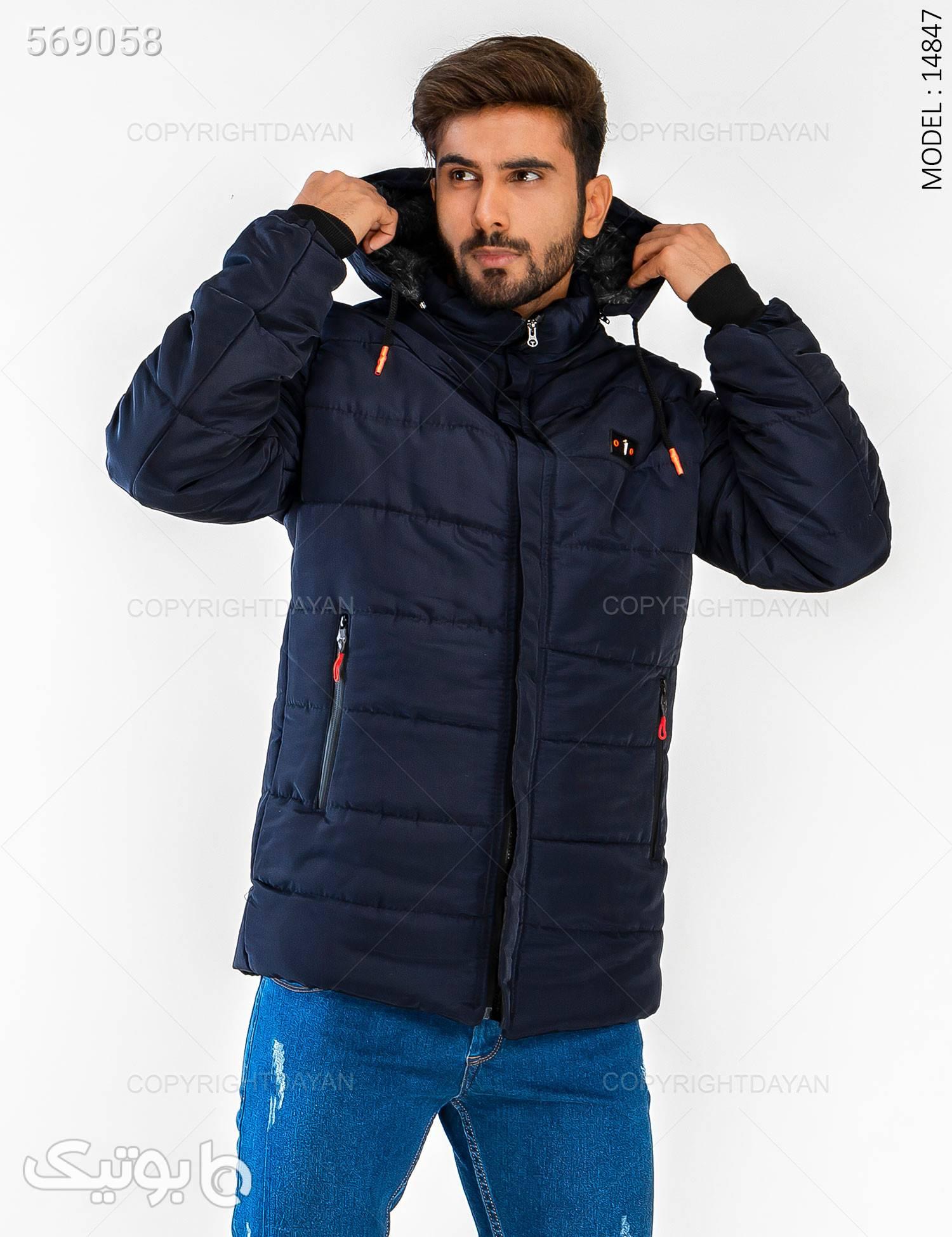 کاپشن مردانه Enzo مدل 14847 سورمه ای کاپشن و بارانی مردانه
