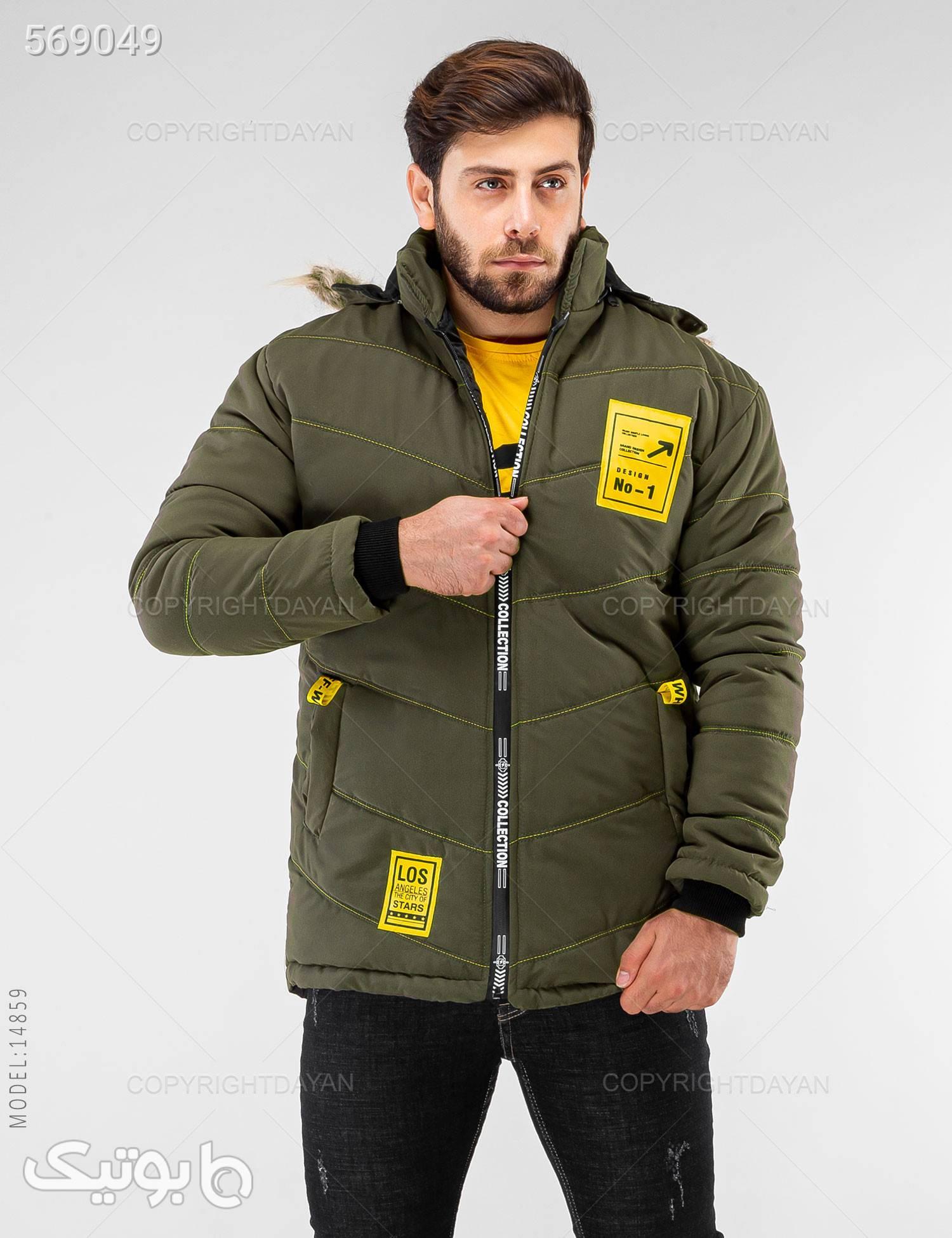 کاپشن مردانه Enzo مدل 14859 سبز کاپشن و بارانی مردانه