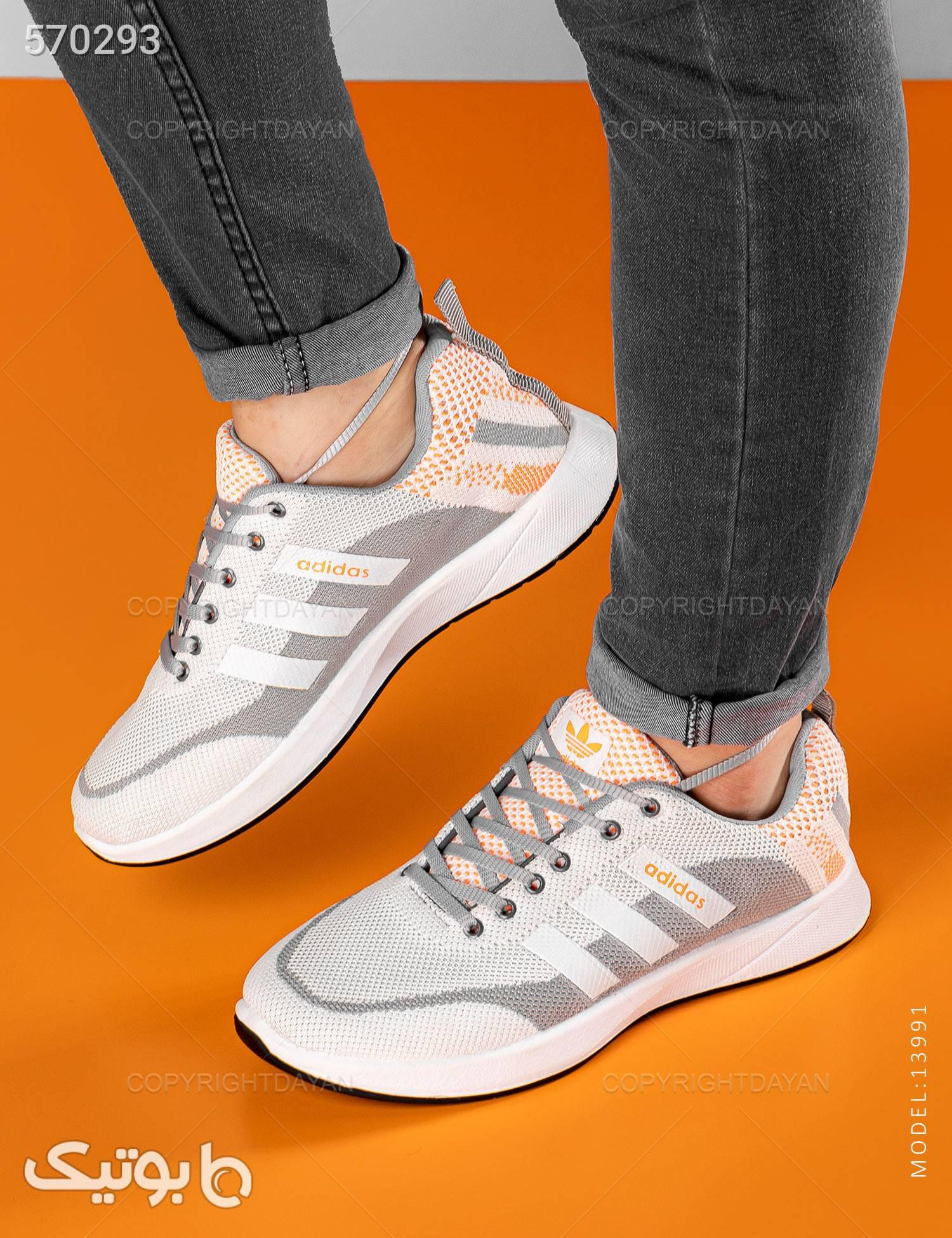 کفش روزمره  Adidas مدل 13991 سفید كتانی مردانه