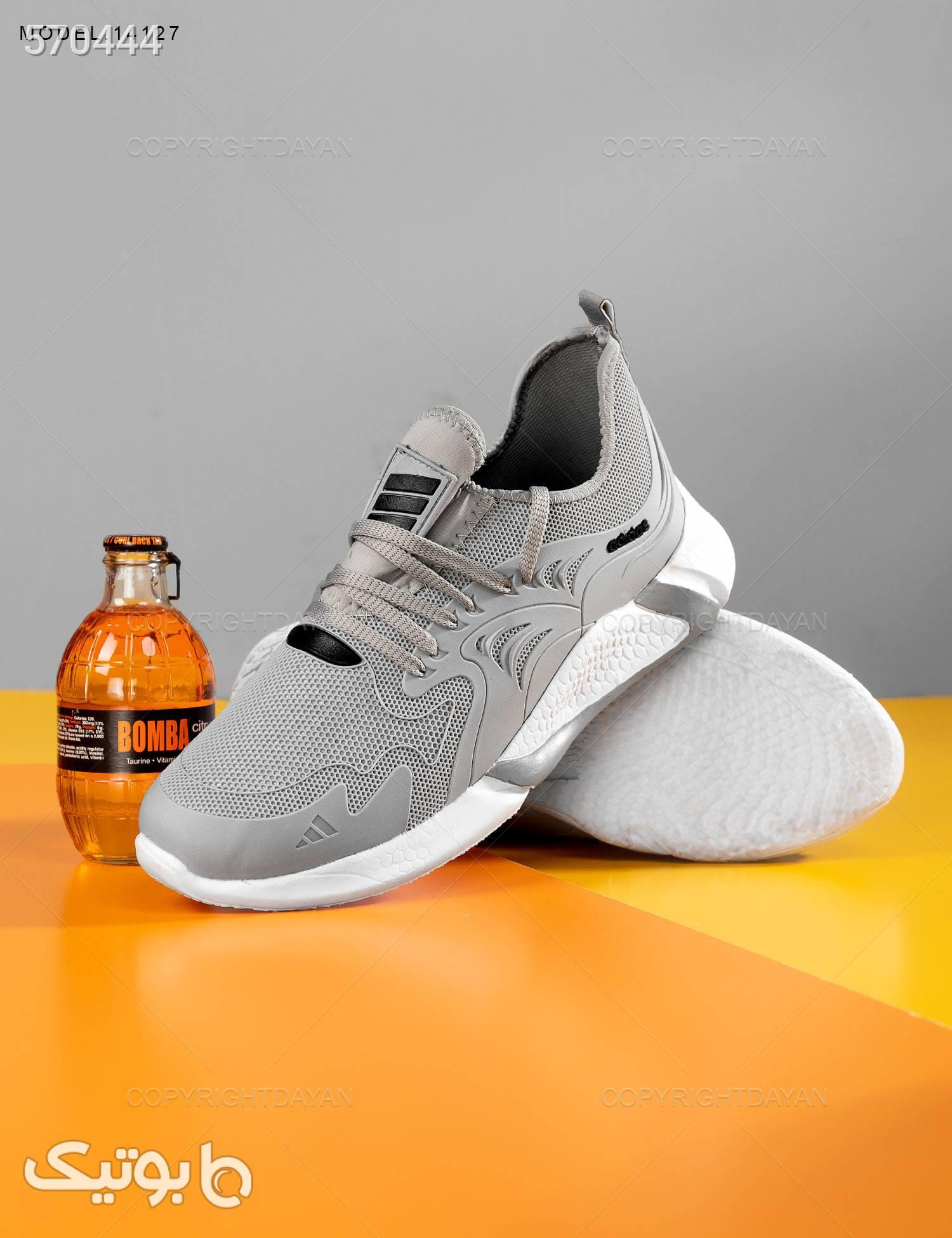 کفش مردانه Adidas مدل 14127 طوسی كتانی مردانه