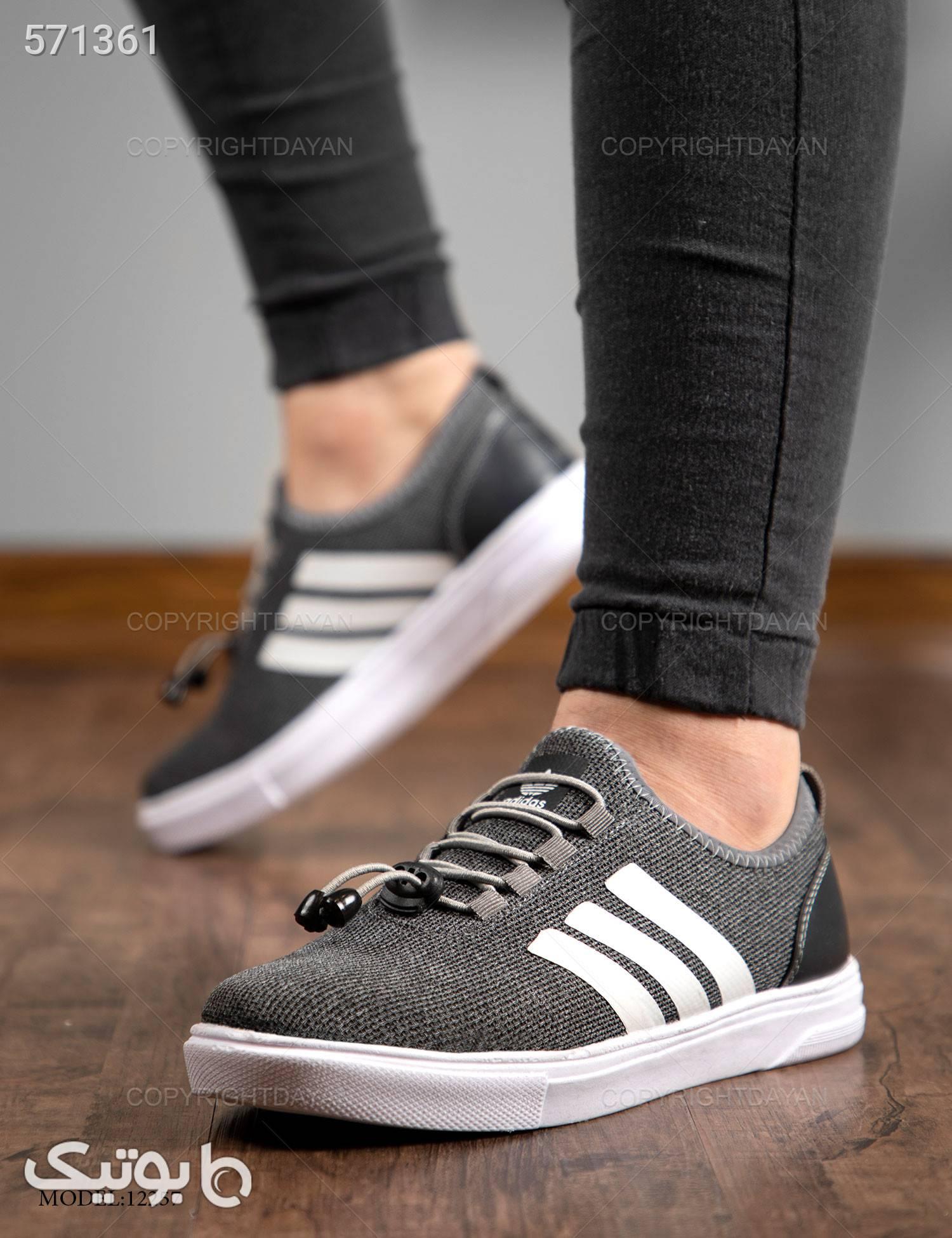 کفش مردانه Adidas  مدل 12257 طوسی كتانی مردانه