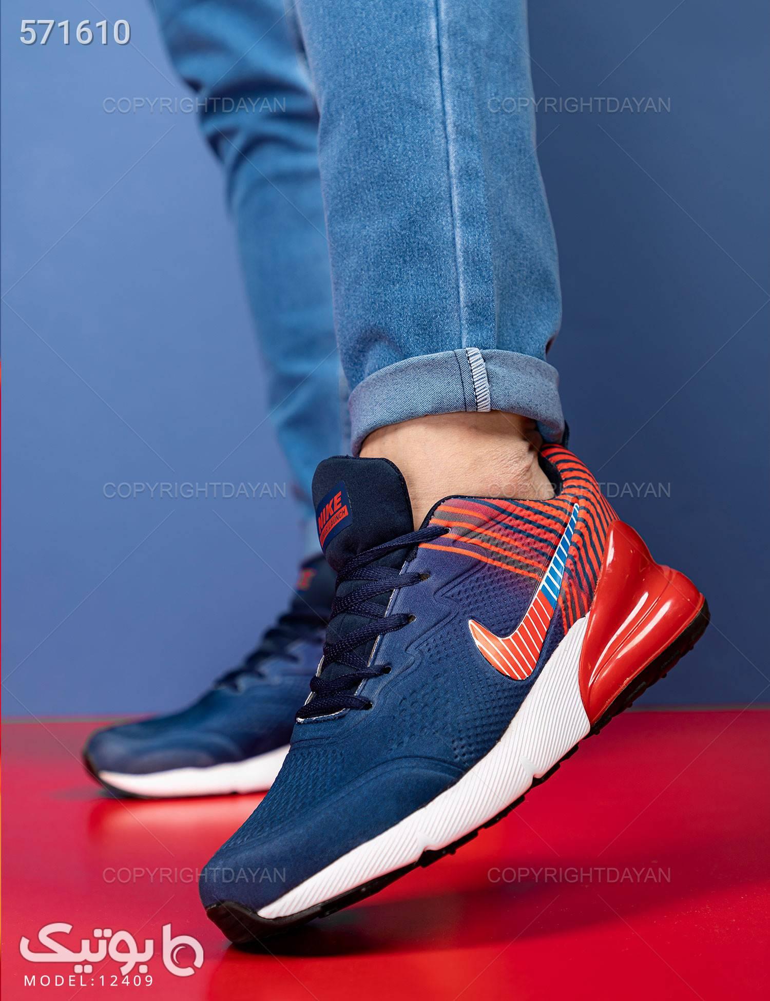 کفش مردانه Nike مدل 12409 سورمه ای كتانی مردانه