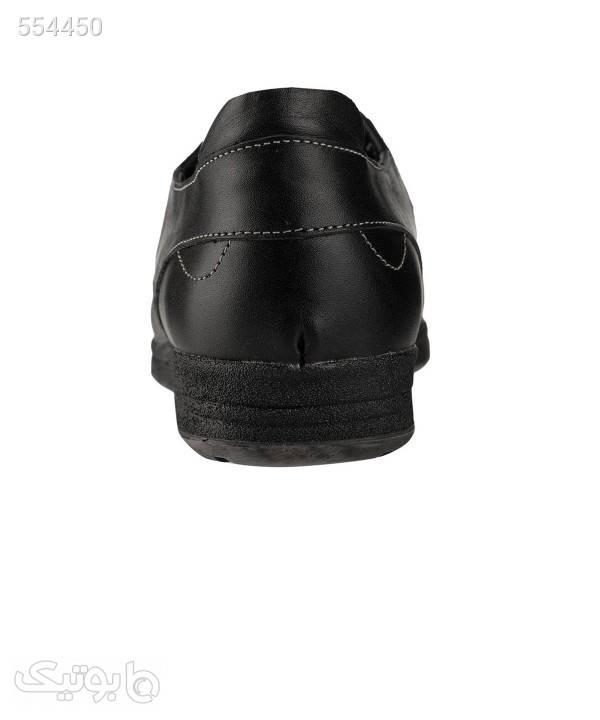 کفش راحتی چرم زنانه شیفر Shifer مدل 5180C مشکی كفش پاشنه بلند زنانه