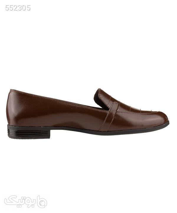 کفش چرم زنانه شیفر Shifer مدل 5263A قهوه ای كفش پاشنه بلند زنانه