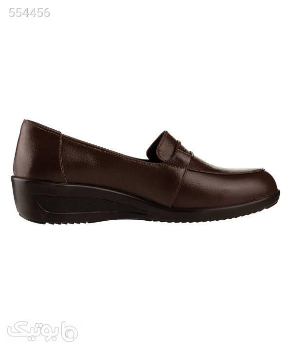 کفش کالج زنانه شیفر Shifer مدل 5279A قهوه ای كفش پاشنه بلند زنانه