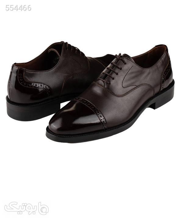 کفش مجلسی چرم مردانه ال آر سی LRC مدل 2492 مشکی كفش مردانه