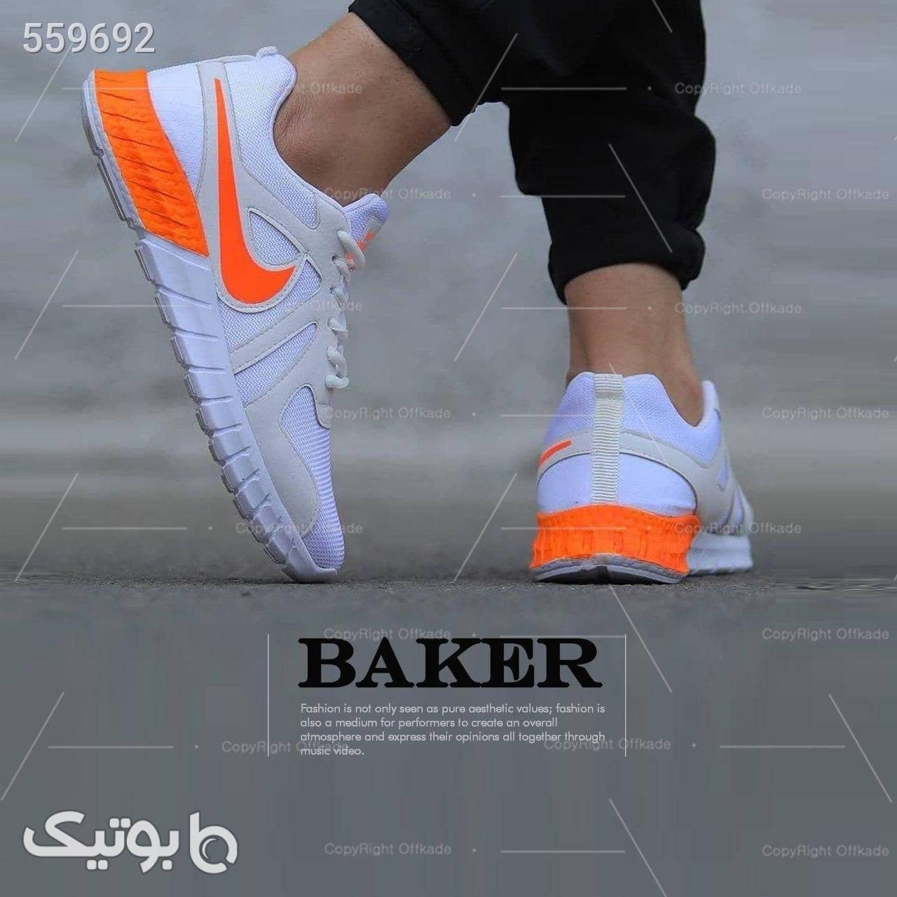 کفش مردانه مدل Baker سفید كفش مردانه