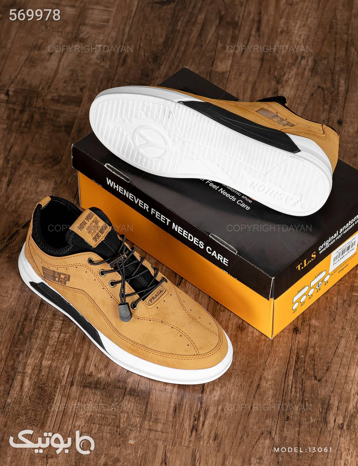 کفش مردانه Prada مدل 13061 قهوه ای كفش مردانه