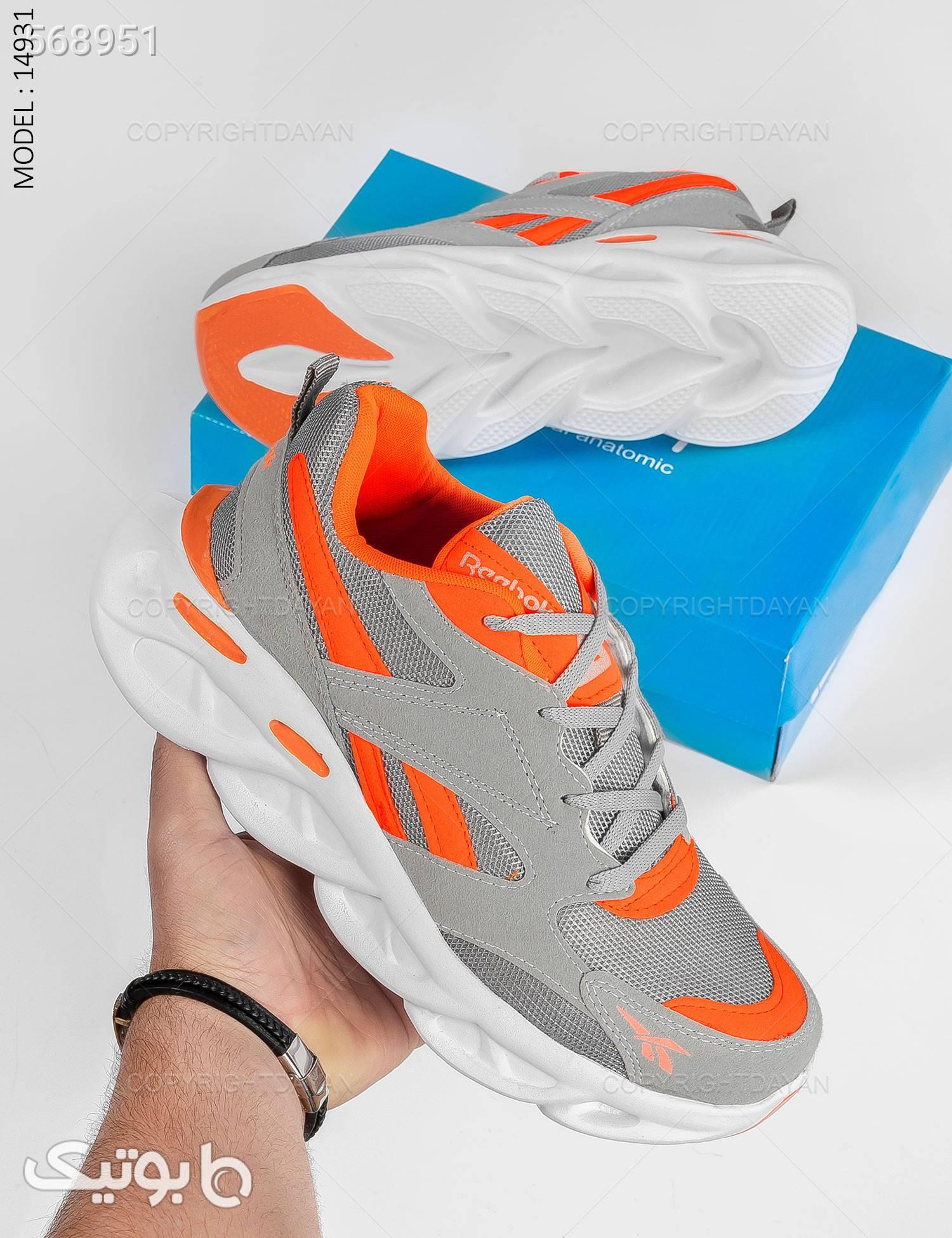 کفش مردانه Reebok مدل 14931 طوسی كفش مردانه