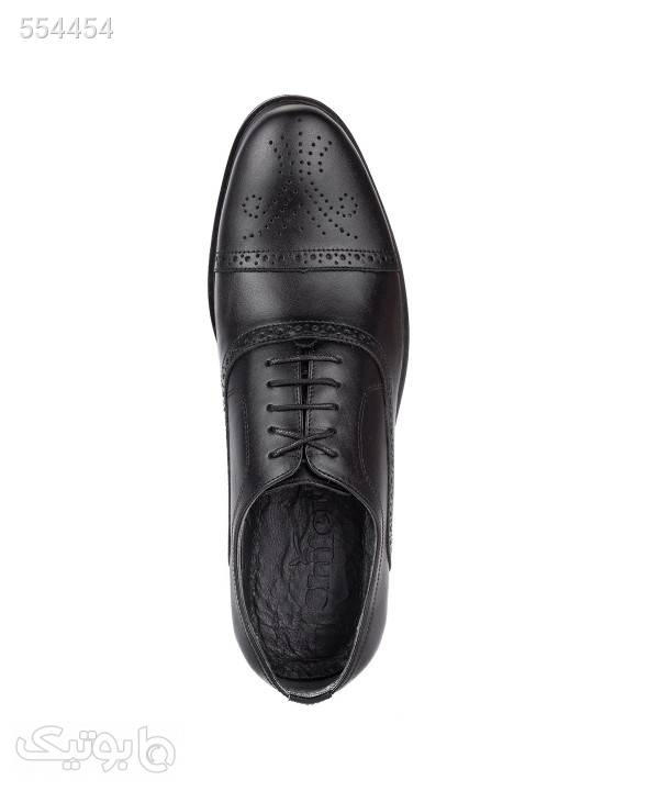 کفش چرم مجلسی مردانه شیفر Shifer مدل 7161H مشکی كفش مردانه