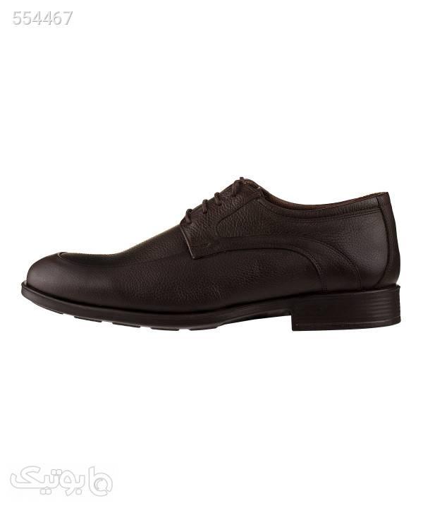 کفش چرم مردانه ال آر سی LRC مدل 2133 قهوه ای كفش مردانه