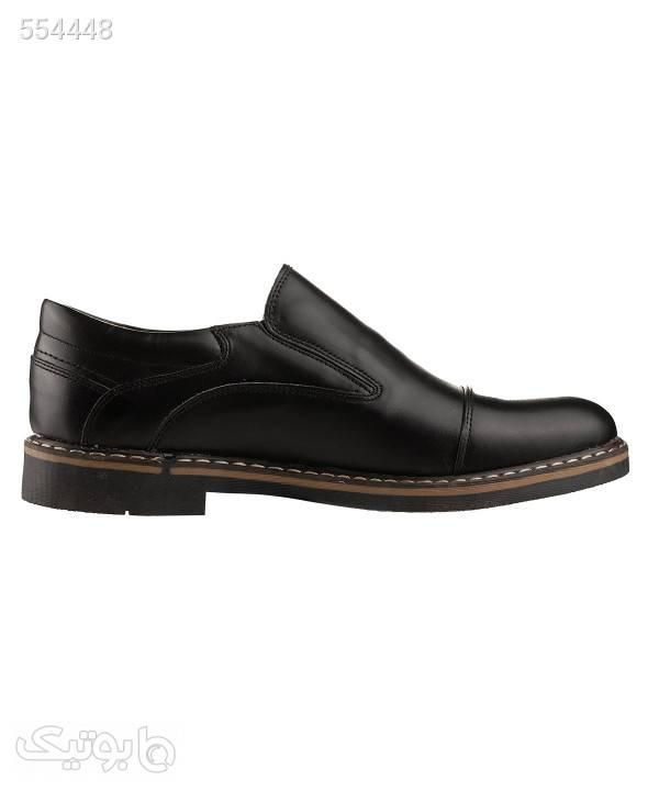 کفش چرم مردانه شیفر Shifer مدل 7249A مشکی كفش مردانه