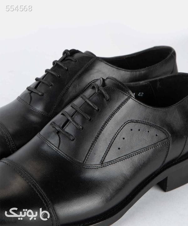 کفش چرم مردانه لرد Lord مدل 4081 مشکی كفش مردانه