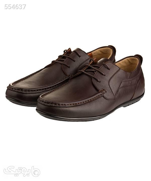 کفش چرم مردانه لرد Lord مدل 5051 قهوه ای كفش مردانه