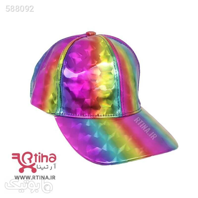 کلاه کپ اسپرت اورجینال شاین مدل Hexagonal صورتی کلاه و اسکارف