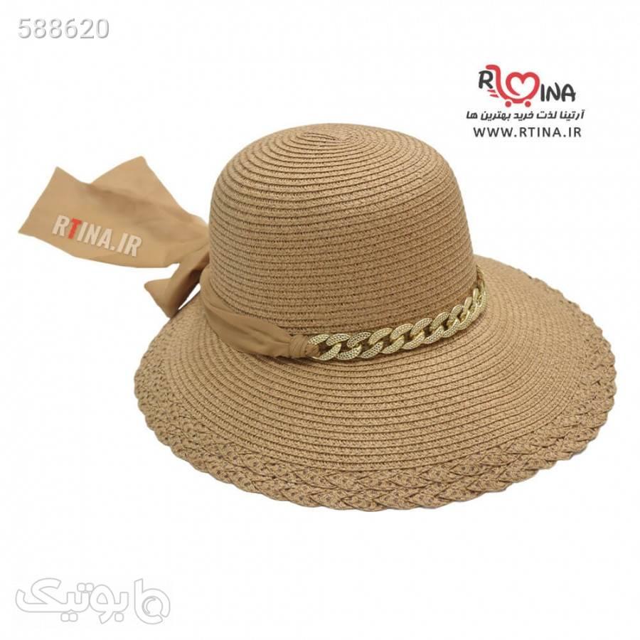 کلاه گرد لبه دار دخترانه مدل ساحلی آویز دار سورمه ای کلاه و اسکارف