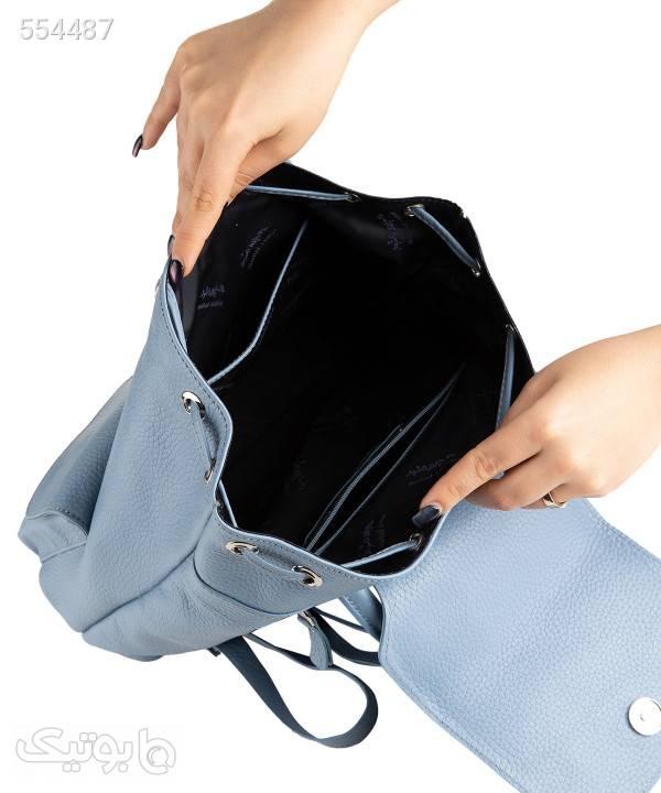 کوله پشتی زنانه چرم مشهد Mashhad leather مدل S0686 آبی کوله پشتی