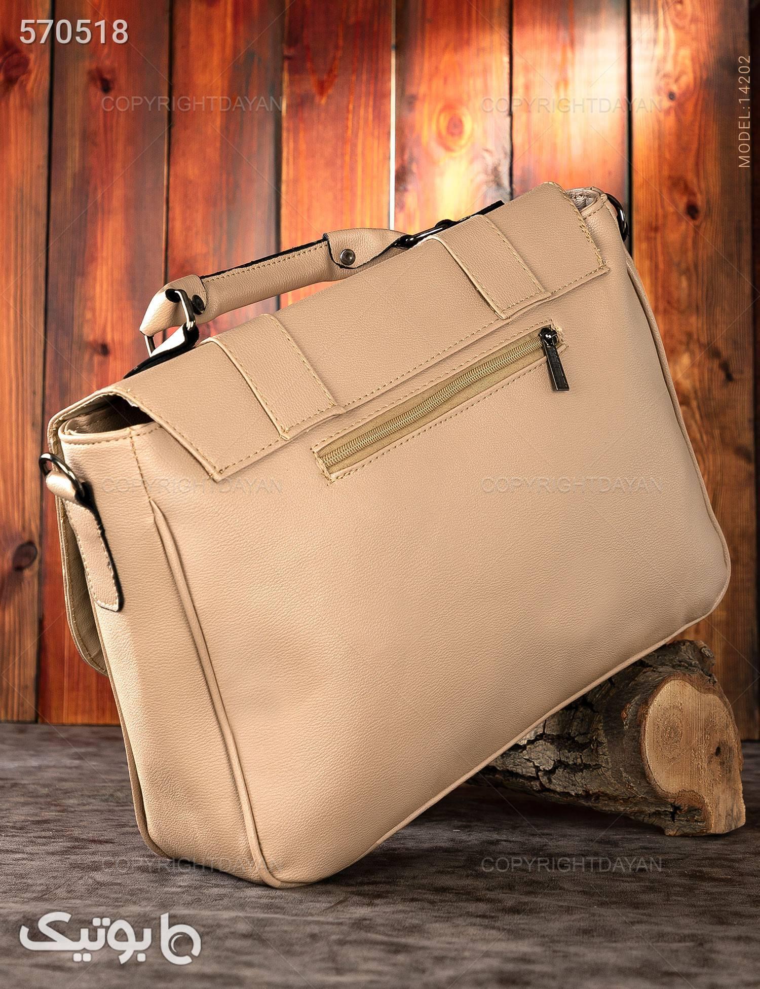 کیف اداری Massimo Dutti مدل 14202 کرم کیف اداری