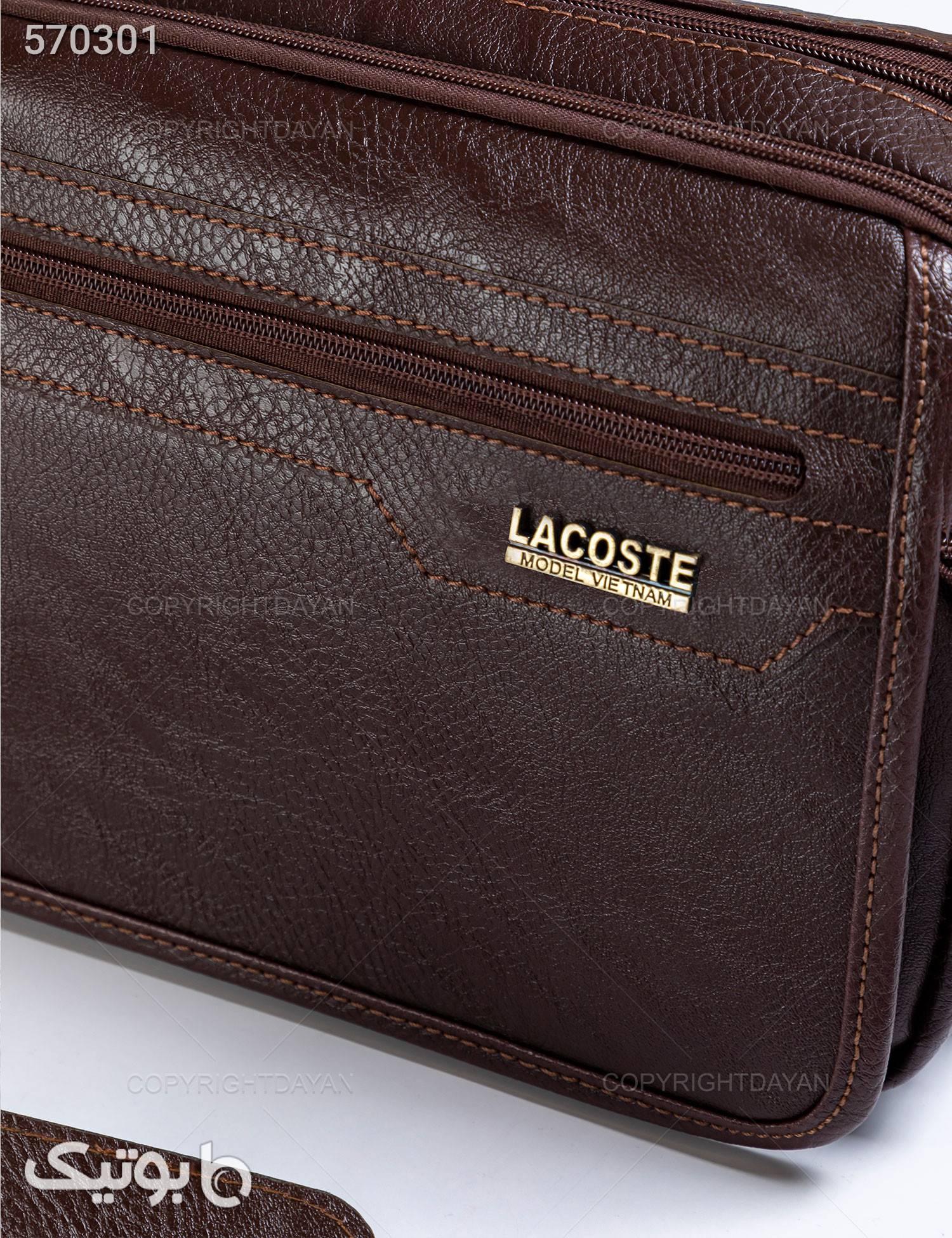 کیف Lacoste مدل 14009 قهوه ای کیف اداری