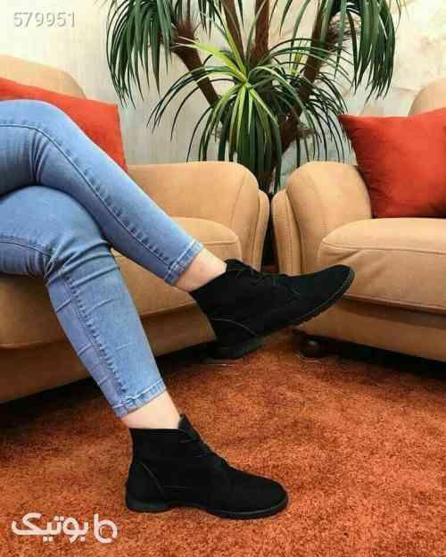 کفش نیم بوت زنانه (کلاسیک)  مشکی 99 2020