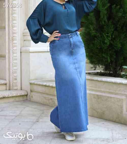 دامن جین زنانه آبی 99 2020