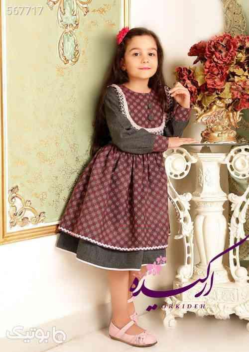 پیراهن کشمیر با تور اعلا دخترانه شیک - لباس کودک دخترانه