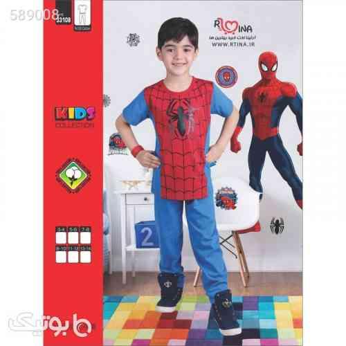 ست تیشرت شلوار اسپرت پسرانه مدل اسپایدرمن قرمز 99 2020