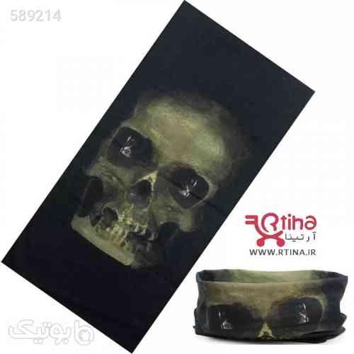 دستمال سر و گردن مدل اسکلتیH4 مشکی 99 2020