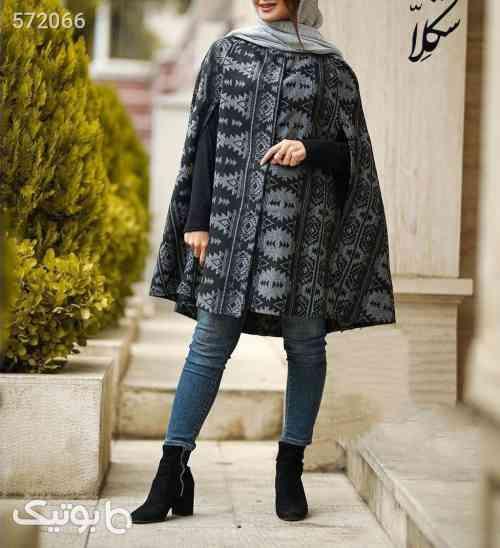 مدل سرخپوستی شنل پشمی مکزیکی طرحدار نقره ای 99 2020