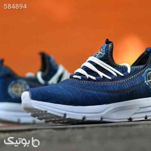کفش مردانه طرح جین سورمه ای 99 2020