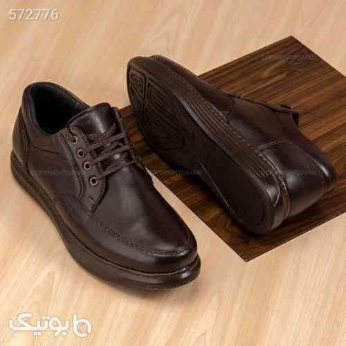 کفش چرمی کیان قهوه ای 99 2020