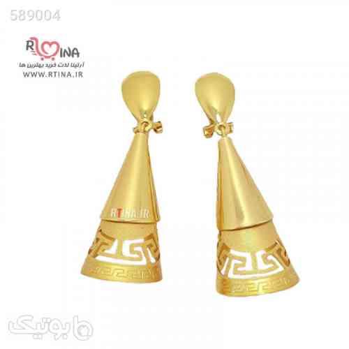 گوشواره دخترانه فانتزی مدل cone25 طلایی 99 2020