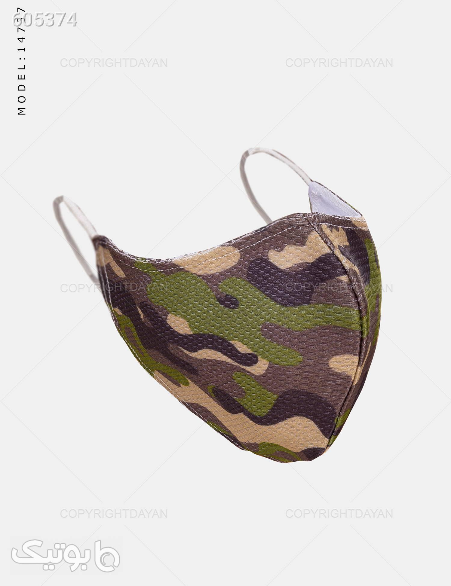ماسک پارچه ای طرح چریکی طلایی بهداشت و مراقبت بدن