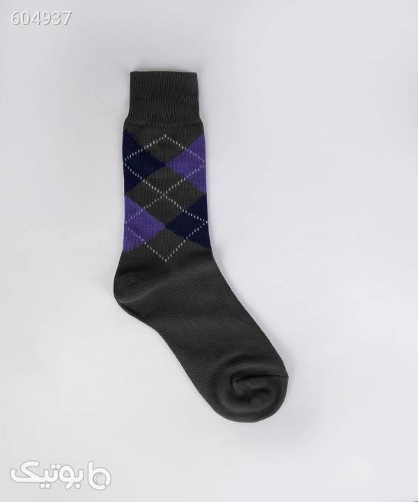 جوراب ساق دار مردانه جوتی جینز JootiJeans کد 94852003 طوسی جوراب و پاپوش