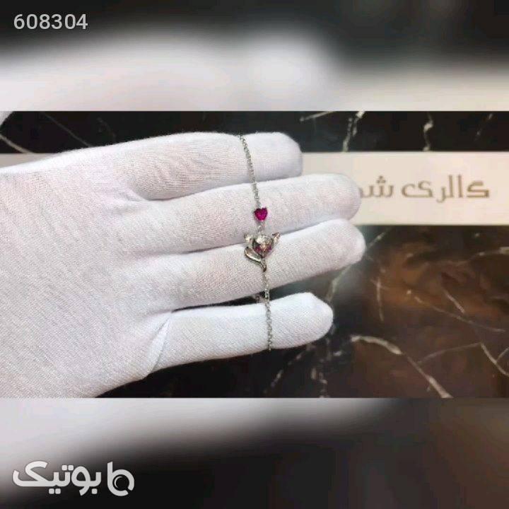 دستبند نقره روباه و قلب نقره ای دستبند و پابند
