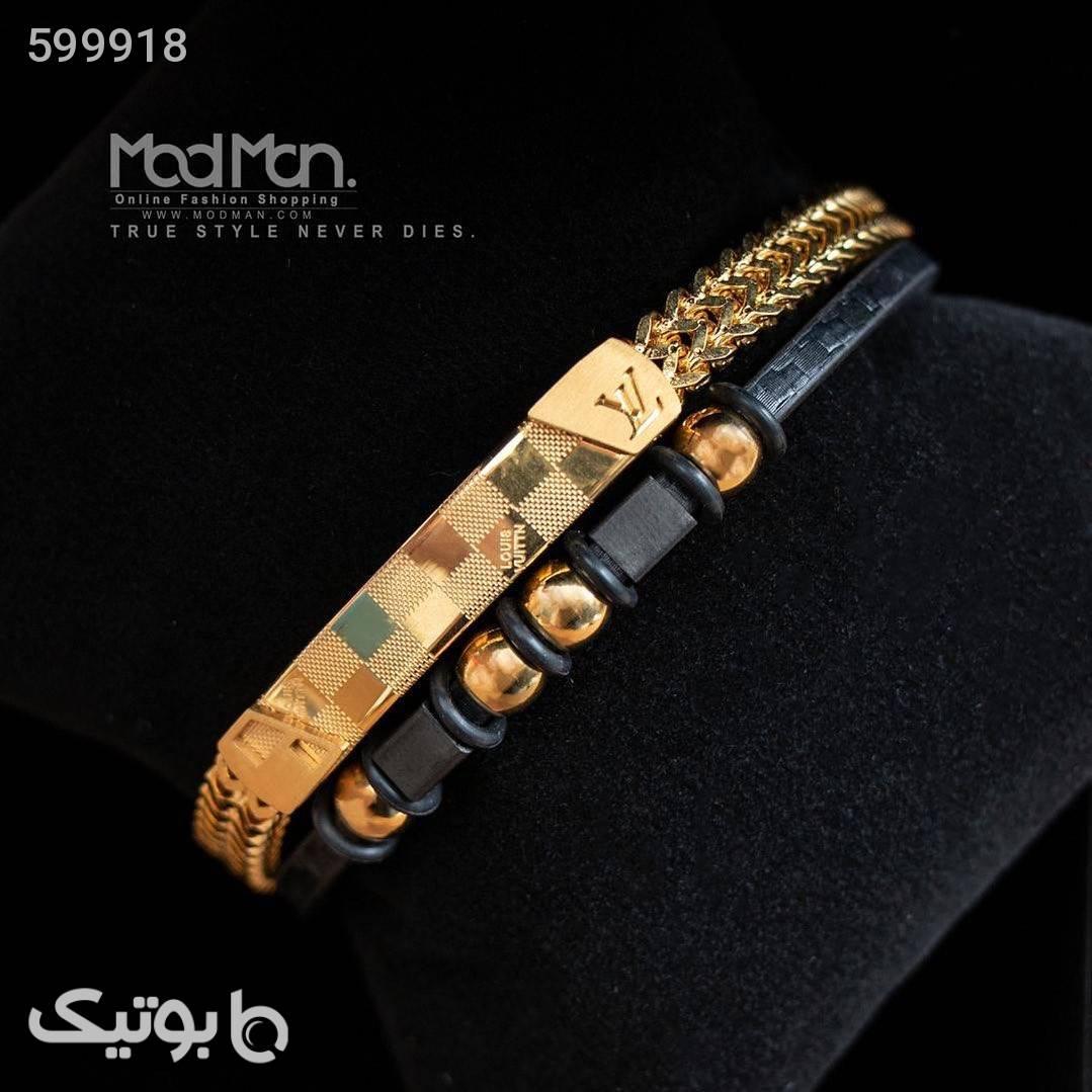 دستبند چرم و استیل Rolex طلایی دستبند و پابند