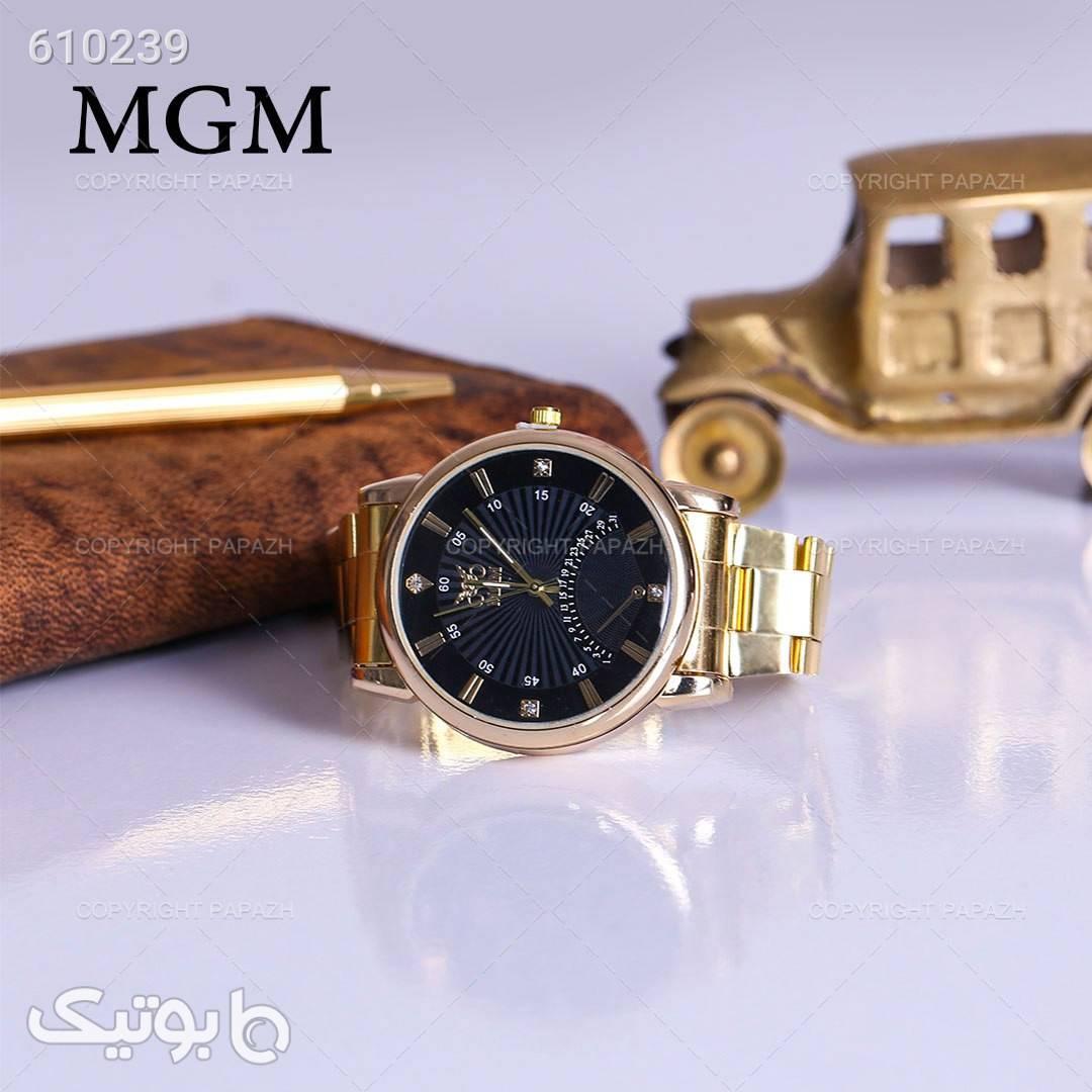 ساعت مچی مردانه MGM مدل 1260 زرد ساعت