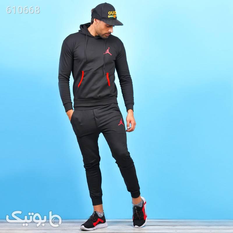 ست سویشرت و شلوار مردانه اسپرت Hodin مشکی ست ورزشی مردانه