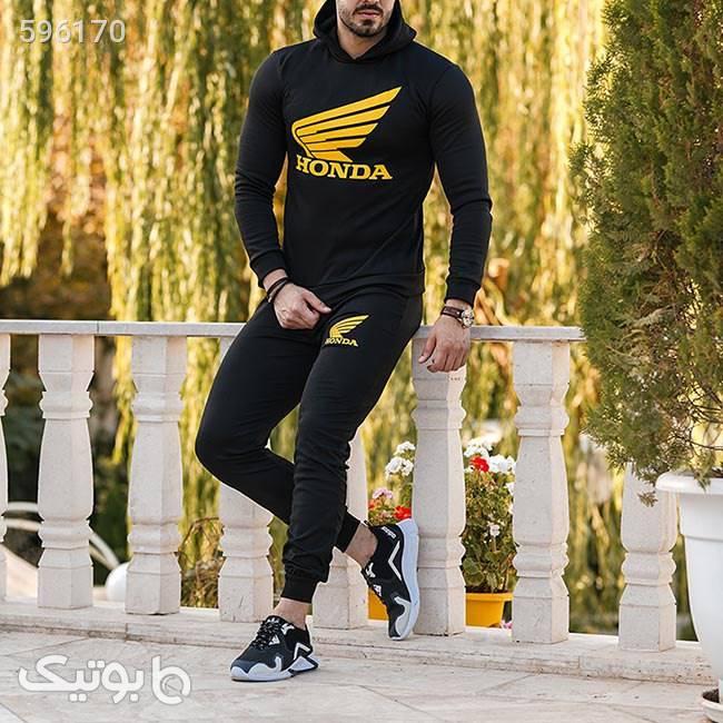 ست سویشرت و شلوار Erhan زرد ست ورزشی مردانه