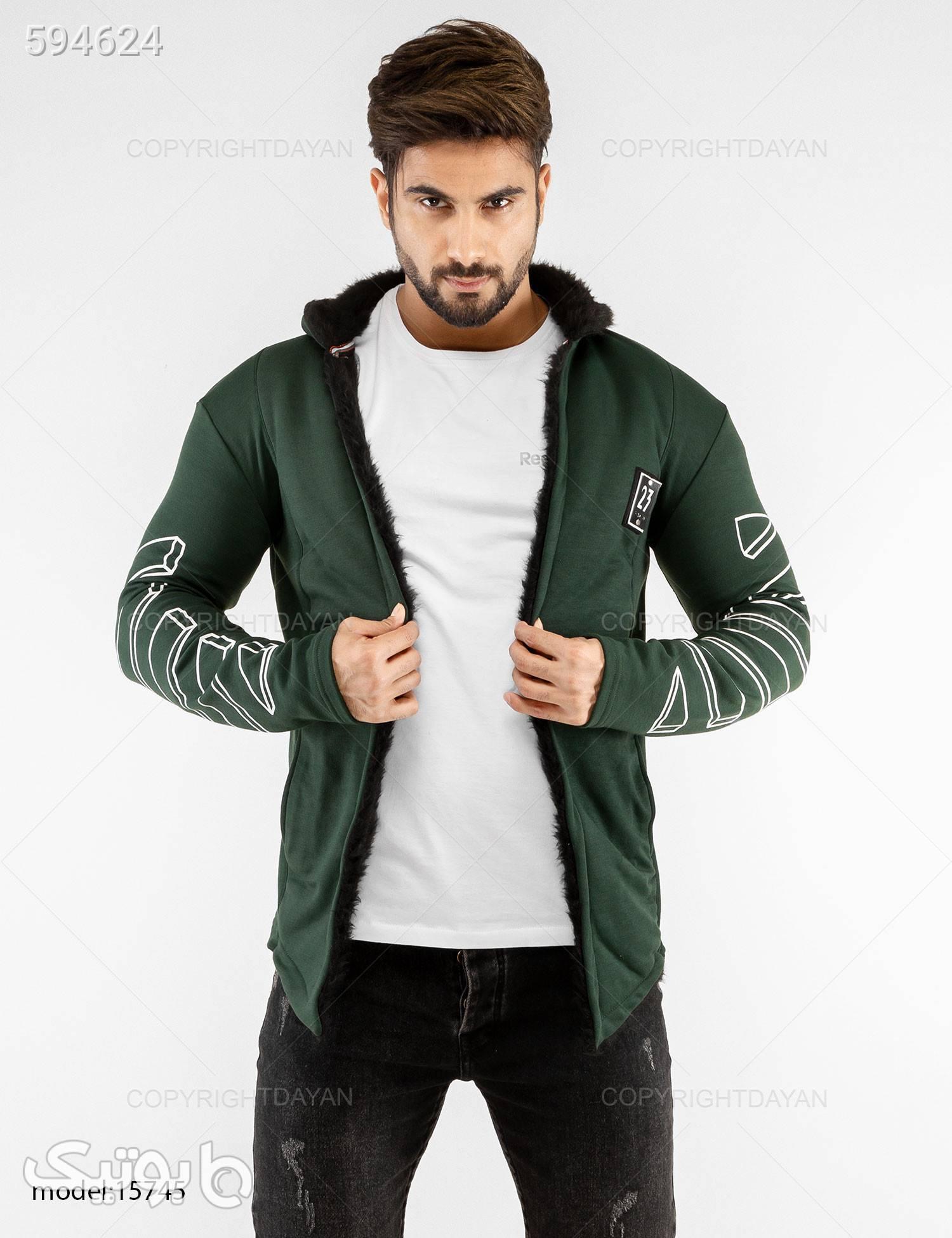 شنل خزدار مردانه New York مدل 15745 سبز سوئیشرت و هودی مردانه