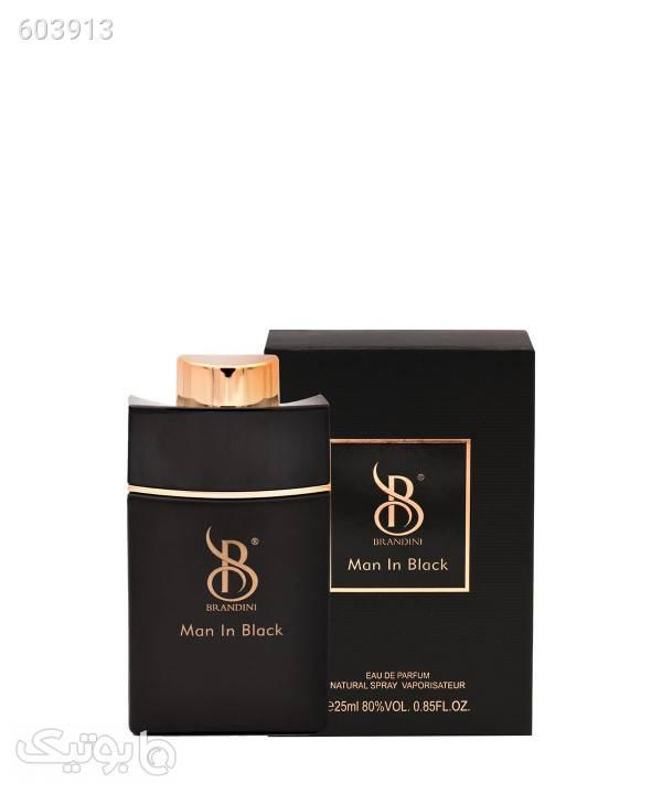 عطر جیبی مردانه برندینی Brandini مدل Man In Black حجم 25 میلیلیتر مشکی