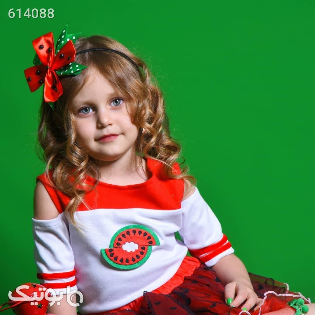 لباس یلدایی دخترانه قرمز لباس کودک دخترانه