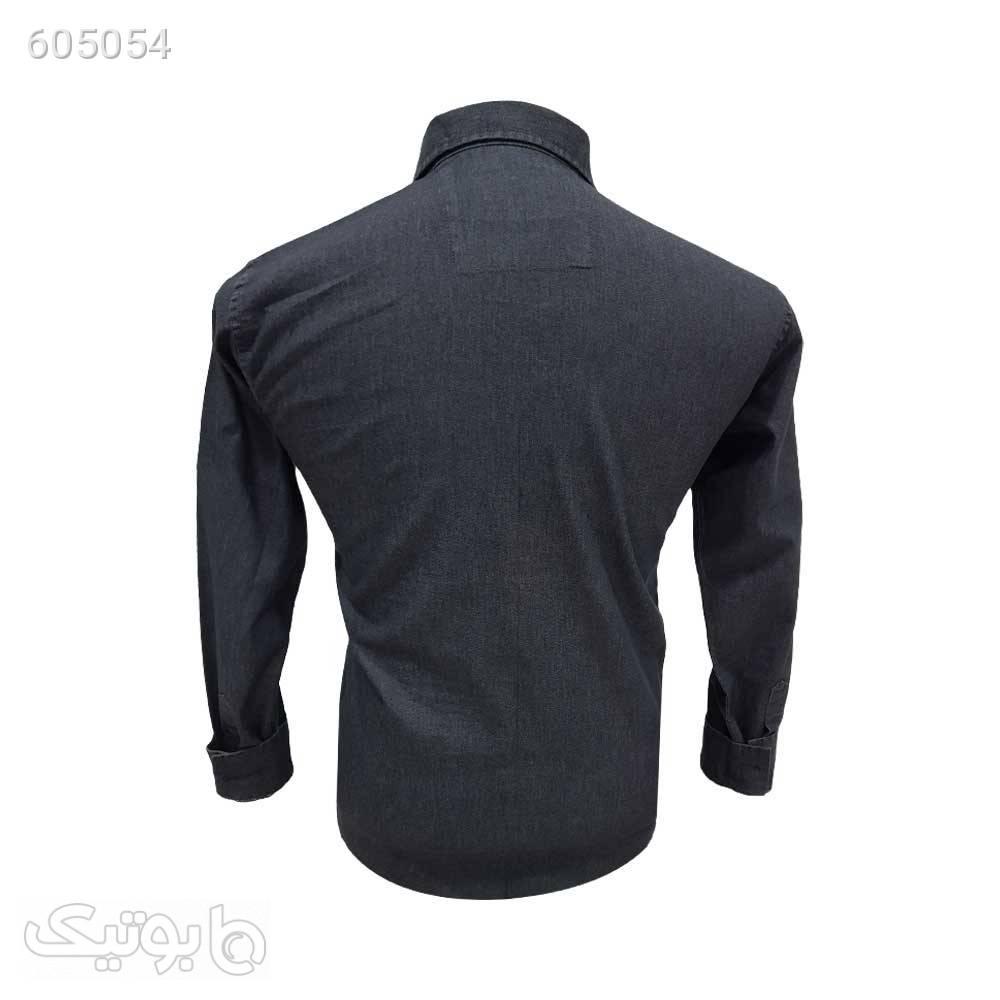 پیراهن کتان دو جیب 12409810 مشکی پيراهن مردانه