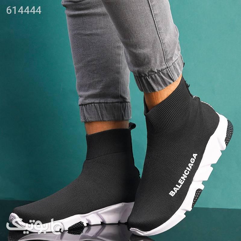 کفش بافتنی luca ساقدار مردانه مشکی كفش مردانه