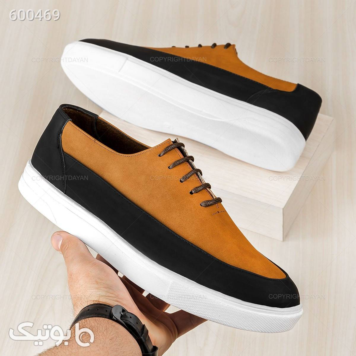 کفش مردانه آراز  قهوه ای كفش مردانه