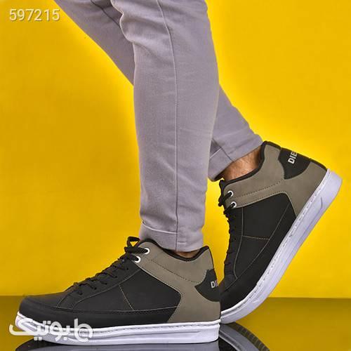 کفش مردانه ساقدار مدل دیزل مشکی كفش مردانه